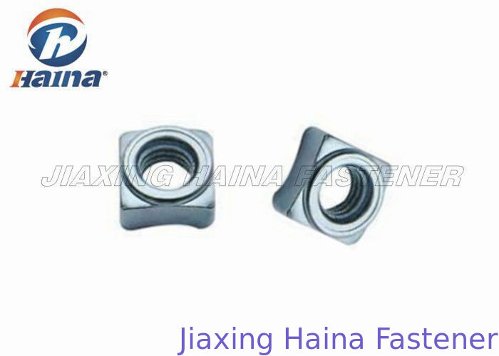 Galvanized Square Weld Nut M8 - M14 For Compressor Free Samples DIN 928