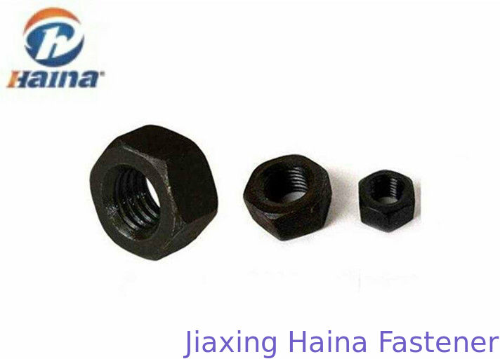 DIN934 Carbon Steel Gr 8.8 2H Hex Head Nuts Dia 16 With Black Surface Treatment
