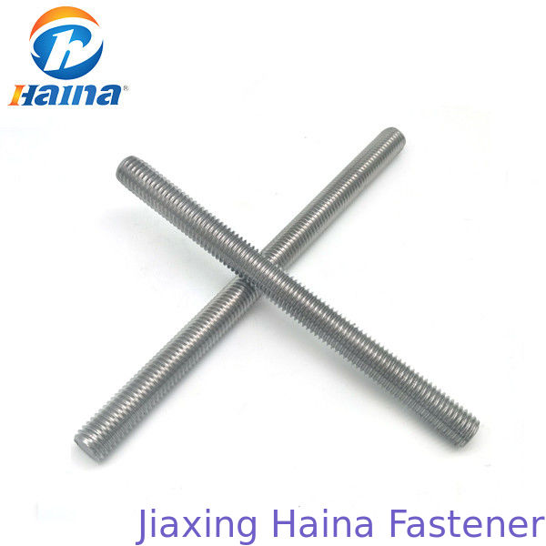 M4 - M42 B7 Threaded Steel Rod , Galvanized Threaded Rod In Plain Color